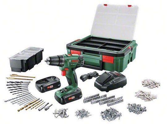 Bosch PSR 1800 LI Akku Bohrschrauber + 241 tlg. Zubehör + Koffer für 129€ (statt 170€)