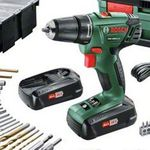 Bosch PSR 1800 LI Akku Bohrschrauber + 241-tlg. Zubehör + Koffer für 129€ (statt 170€)