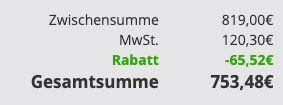 Heute 10% Rabatt auf alles von Miele   z.B. Miele Eco Waschmaschine für 753,48€ (statt 819€)