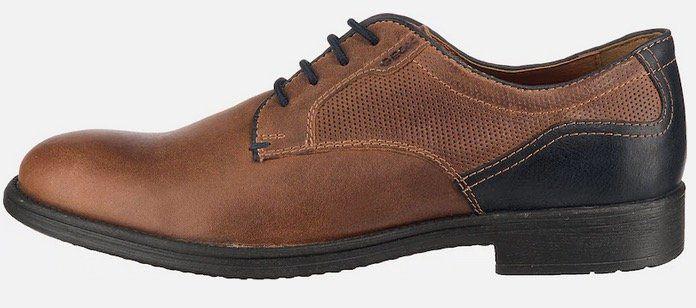 GEOX Leder Schnürschuhe in Braun für 49,29€ (statt 100€)
