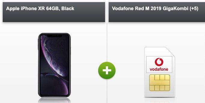 GigaKombi: iPhone XR für 89€ + Vodafone Red M mit 21GB LTE für 42,49€mtl.