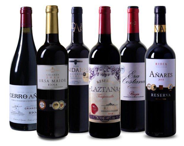 6 Flaschen Rioja Wein Probierpaket für 49,99€   allesamt mehrfach prämiert!