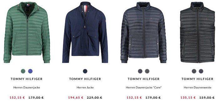engelhorn: Tommy Hilfiger Jacken mit 15% Rabatt   z.B. Hilfiger Daunenweste für 135,15€ (vorher 159€)