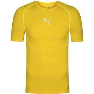 PUMA Herren Kompressions Funktionsshirt in Gelb für 8,39€ (statt 18€)