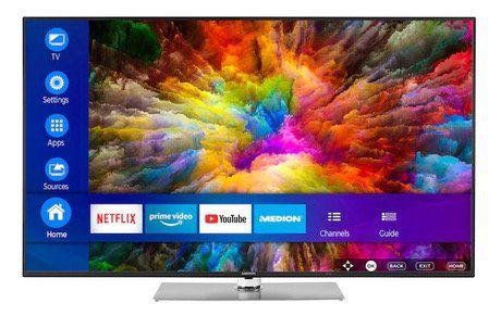 Ausverkauft! Medion Life X16503   65 Zoll UHD Fernseher mit Smart Funktionen für 499,95€ (statt 800€)