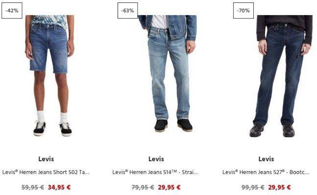 Jeans Direct: 15% Rabatt (MBW 40€) auf alles von Levi's   z.B. Levis 511 Slim Fit für 25,45€ (vorher 99,95€)