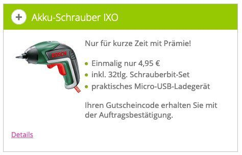 🔥 Bosch IXO V für nur 8,85€ (statt 37€) über Klarmobil Trick   bitte genau lesen!
