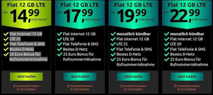 Abgelaufen! SimOnly Allnet Flat im Telekom Netz mit SMS und 12GB LTE nur 14,99€ mtl.