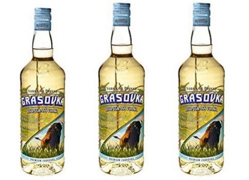 Dreierpack Grasovka Bisongrass Vodka 38% 0,7 Liter für nur 16,45€