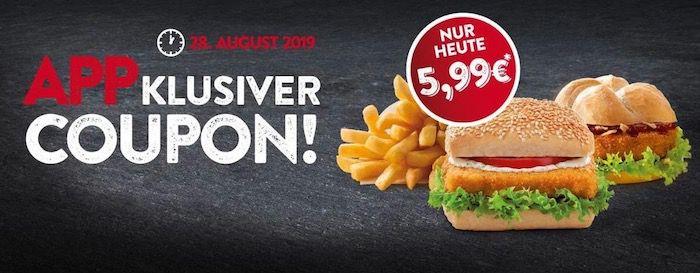 Nordsee: Bremer, Wikinger und Pommes zusammen 5,99€   nur heute über die App