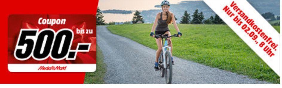 Media Markt E Bikes und Fahrradzubehör Sale   z.B. E Bike REX GRAVELER für 969€ + 100€ Gutschein (statt 1.019€)
