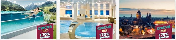 Travelcircus Circus Day mit Bestpreisen   z.B. Disneyland inkl. Hotel ab 79€ oder Slaghareb inkl. ÜN 29,75€