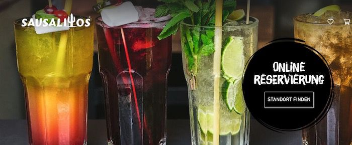 Ausverkauft! Sausalitos: 12 Jumbo Cocktailgutschein für 60€ (statt 129€)