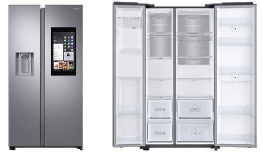 Samsung Edelstahl Side by Side Kühlschrank mit Display, Apps und Streaming für 2.299€ (statt 2.159€) + 500€ MM Gutschein