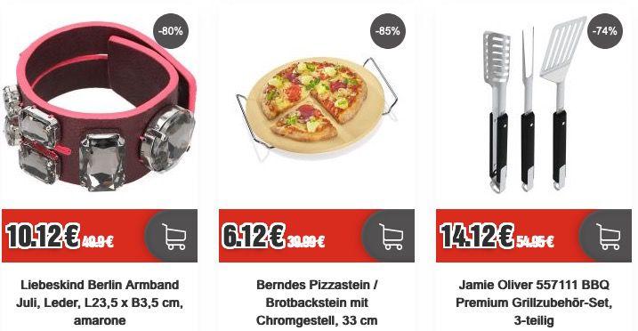 Blowout Friday bei Top12   z.B. Berndes Pizzastein mit Chromgestell für 6,12€ (statt 24€)