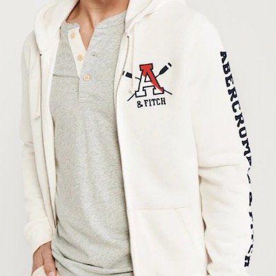 Abercrombie & Fitch Sweatjacke Old School Logo Fullzip Ext für 33,71€ (voher 95€)