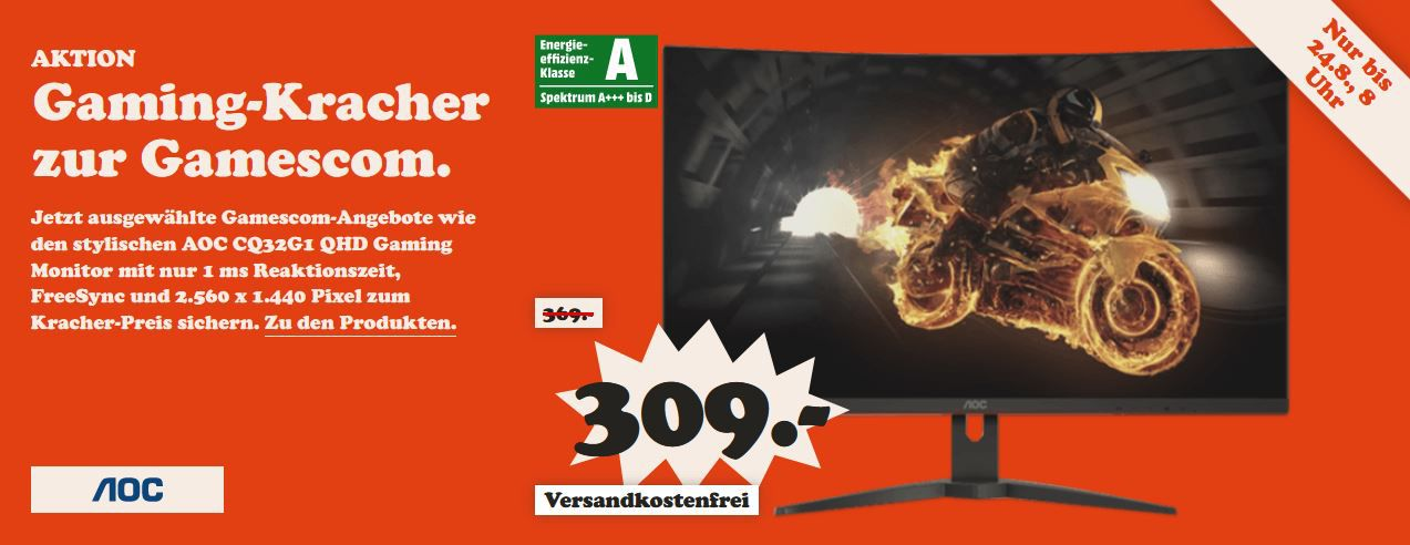 MM Gamingcom Nacht: Heute Monitore z.B. ACER Predator XB271 27 Zoll Gaming Monitor für 399€ (statt 456€)