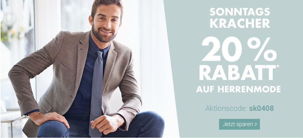 Karstadt Sonntags Kracher: 20% Rabatt auf Herrenmode, Uhren und Schmuck uvam.