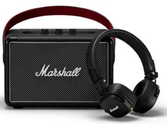 Marshall Kilburn II Bluetooth Lautsprecher + Major III Kopfhörer für 189€ (statt 246€)