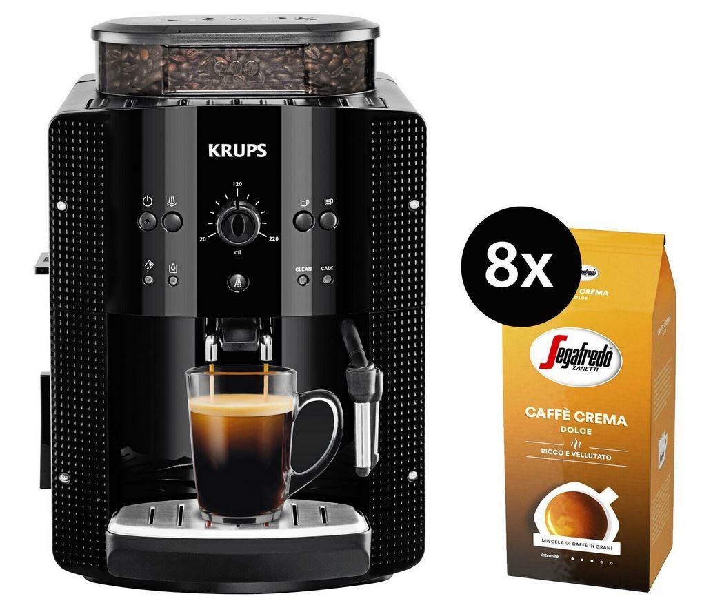 Krups EA8108 Kaffeevollautomat + 8kg Segafredo Caffe Crema für 229,50€ (statt 312€)