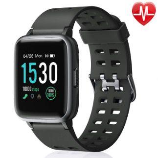 Letsfit Smartwatch mit Touchscreen und Fitness-Funktionen z.B. Pulsmesser für 27,99€ (statt 40€)