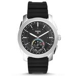 Fossil Hybrid Smartwatch Machine mit schwarzem Silikon-Armband für 70,39€