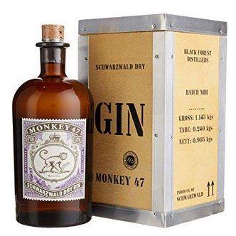 Monkey 47 Gin (1 x 0,5 Liter) in Holzkiste für 32,90€ (statt 42€)