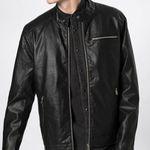 """Kunstleder-Jacke """"Nick"""" in schwarz für 26,91€ (vorher 60€)"""