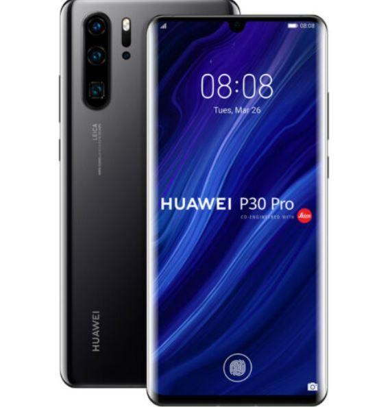 Huawei P30 Pro schwarzes Single Sim Phone 128 GB für 499,90€ (statt 665€) [gebraucht]