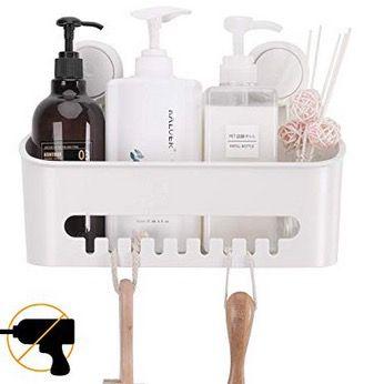 Taili Duschablage mit Saugnapf bis 10kg belastbar für z.B. Duschgel oder Shampoo für 15,19€ (statt 19€)