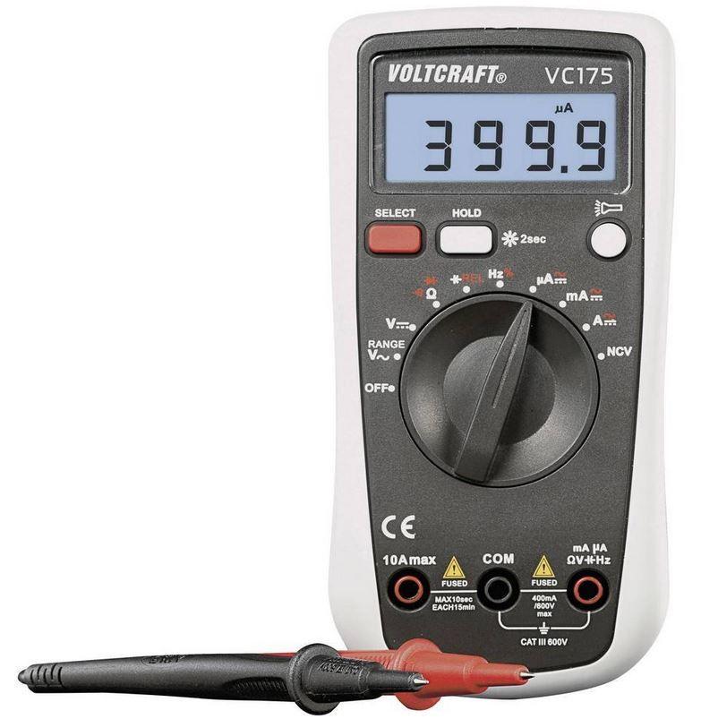 VOLTCRAFT VC175 Hand Multimeter digital CAT III 600V für 24,99€ (statt 34€)