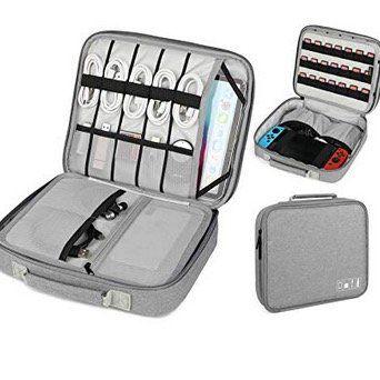 Vemingo Elektrokram Tasche inkl. Kabelorganizer z.B. fürs Tablet, die Konsole mit Ladegerät für 14,49€ (statt 29€)