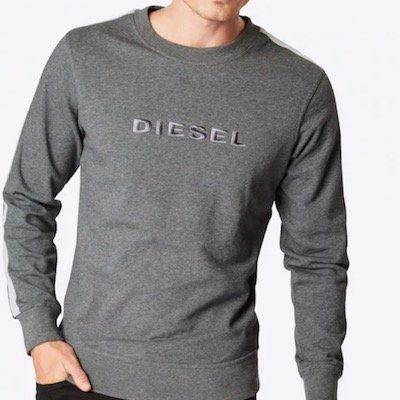 Diesel Sweatshirt Umlt Willy graumeliert für 24,25€ (statt 43€)