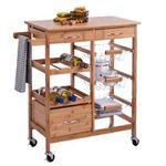 Zeller 13775 Küchenrollwagen Natur für 45€ (statt 92€)