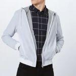 """BOSS Baumwolle-Blouson mit Kapuze """"Zinc"""" in Hellblau oder Schwarz ab 105,20€ (vorher 229€)"""