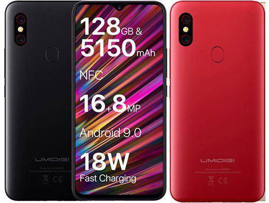 UMIDIGI UMI F1   6,3 Zoll Smartphone mit 128GB, 5150mAh & Android 9 ab 142,49€   aus EU