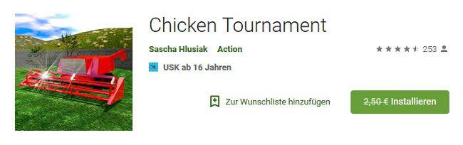 Android: Chicken Tournament kostenlos (statt 2,50€)