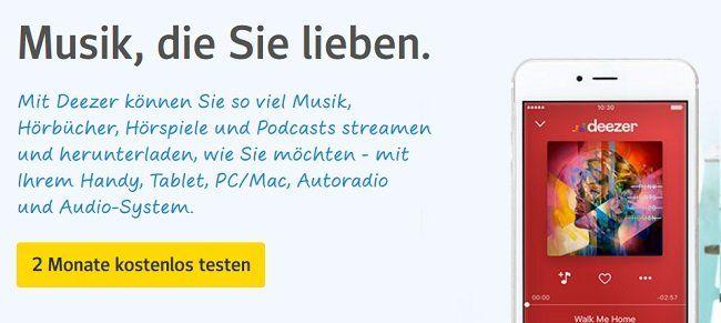 2 Monate DEEZER Premium kostenlos für web.de Nutzer