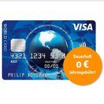 Visa World Card Kreditkarte dauerhaft ohne Gebühr (EU-weit) + Wunsch-PIN