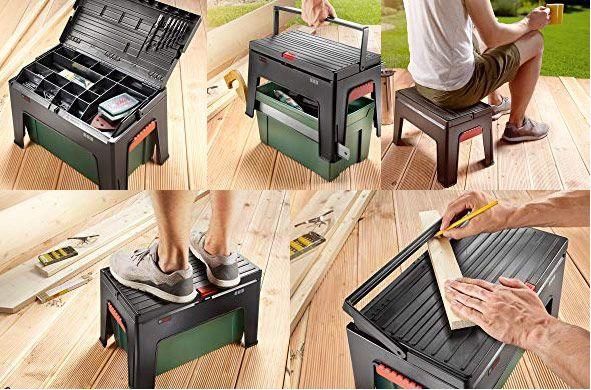 Bosch Step and Work   Werkzeugbox & Tritthocker in Einem für 26,99€ (statt 39€)