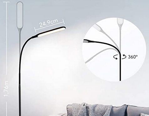 TaoTronics TT DL072   LED Stehlampe mit 4 Farbmodi & Stufen für 31,99€ (statt 36€)