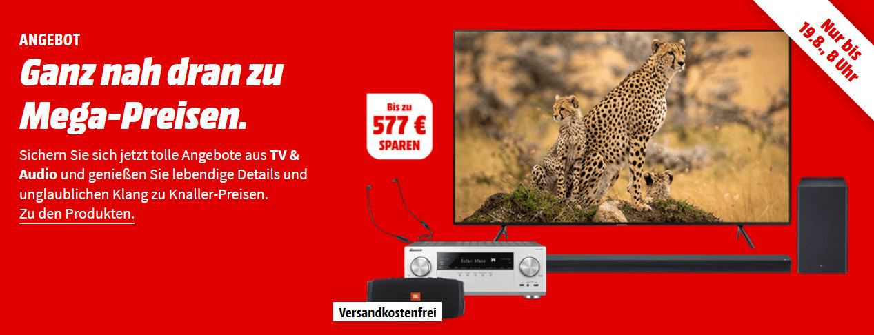 Mega Media Markt TV & Audio Aktion: z.B. PIONEER VSX LX303 Netzwerk AV Receiver für 299€ (statt 379€)