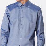OLYMP Hemd Schimmernd in Blau-Weiß für 24,21€ (vorher 50€)