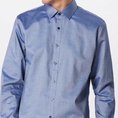 OLYMP Hemd Schimmernd in Blau Weiß für 24,21€ (vorher 50€)