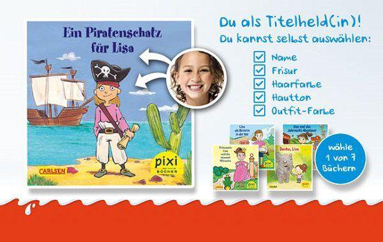 Beim Kauf einer Kinder Schokolade Aktionspackung kostenlos ein Pixi Buch erhalten