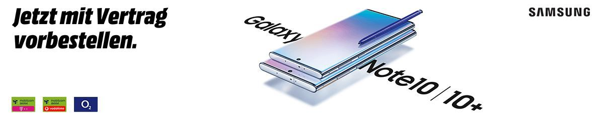 Galaxy Note 10 Plus 256GB für 99€ + O2 AllNet & SMS Flat + 60GB LTE für 49,99€  mtl.