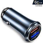 AINOPE Quick Charge 3.0 Auto-Ladegerät QC mit 2-Ports und 30W für 4,49€ (statt 9€) – Prime