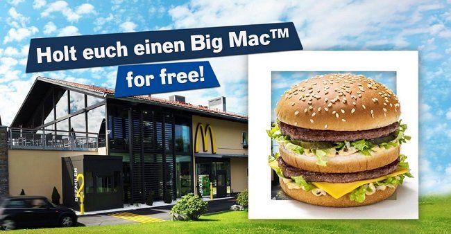 Bayern/Österreich: Kostenloser Big Mac