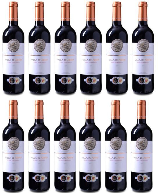 Villa de Adnos – spanischer Bobal Tempranillo Rotwein 6 Flaschen für 29,94€