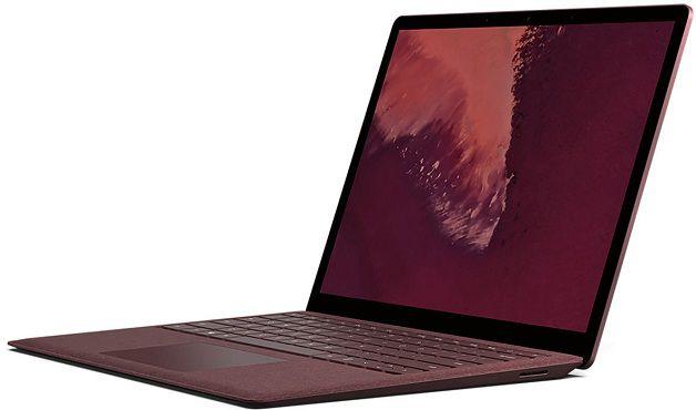 MICROSOFT Surface Laptop 2 mit 13.5 in Bordeaux Rot für 1043,99€ (statt 1.161€) + Gratis Office